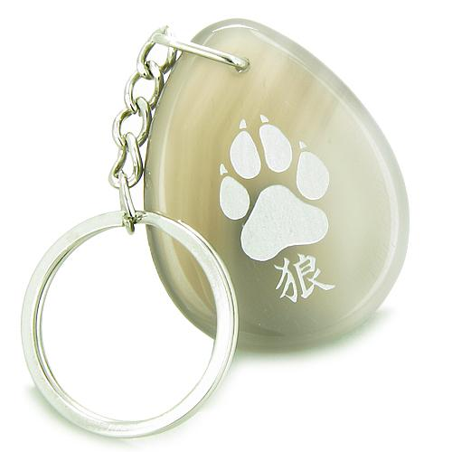 Wolf Keychains Good Luck Charms Protection Wild Powers Amulets and Talismans Gifts