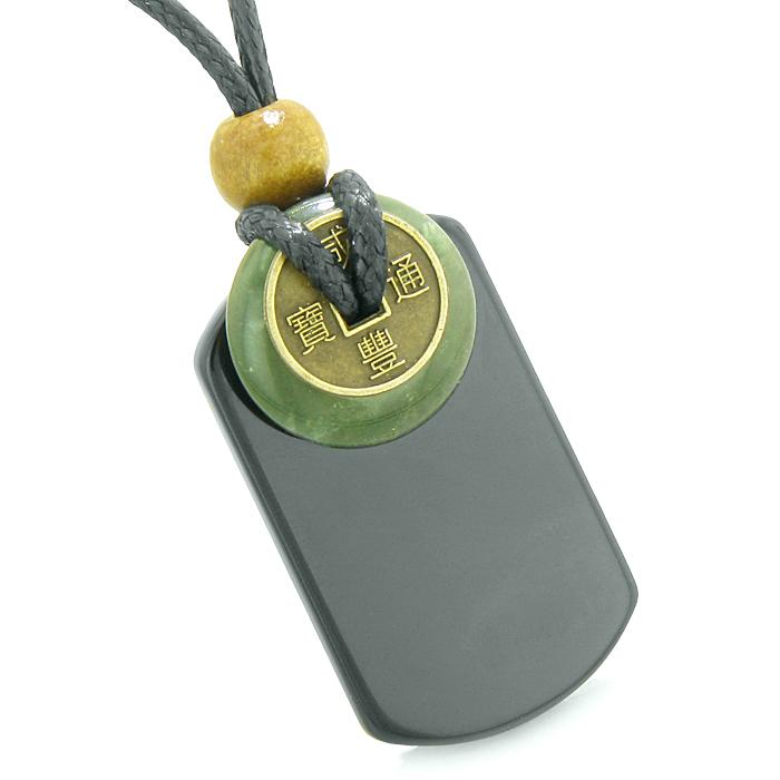 Green Moss Agate Gemstone Dog Tag Amulets and Jewelry