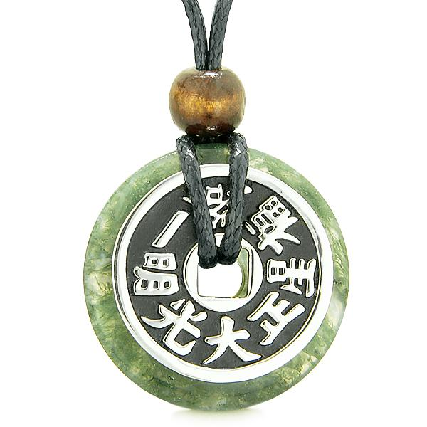 Green Moss Agate Gemstone Feng Shui Jewelry and Gifts