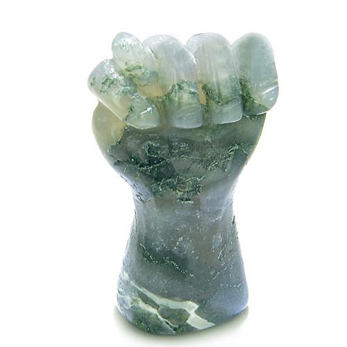 Good Luck Powers Green Moss Agate Gemstone Amulets and Talismans