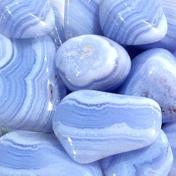 Healing and Good Luck Powers Blue Lace Agate Gemstone Crystals