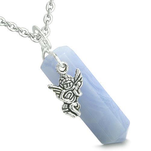 Healing Powers Gemstone Blue Lace Agate Angel Amulets and Talismans