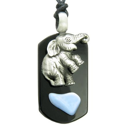 Healing Powers Gemstone Blue Lace Agate Dog Tag Jewelry and Amulets