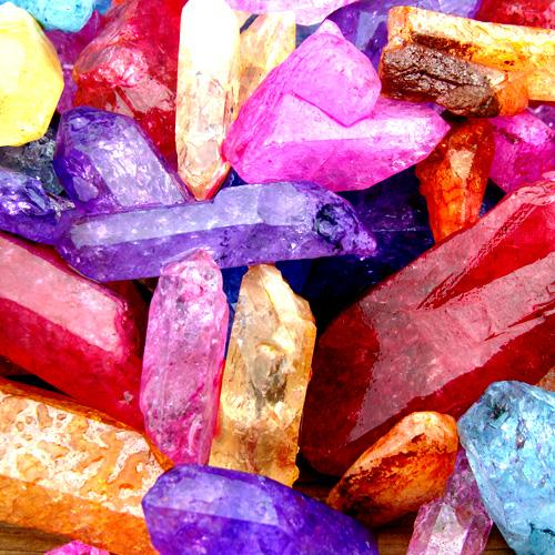 Healing and Good Luck Powers Colorful Quartz Gemstone Crystals