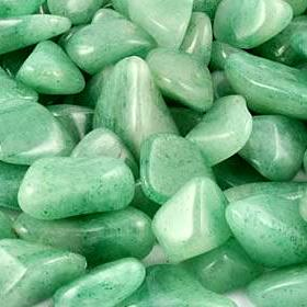 Healing and Good Luck Powers Green Aventurine Quartz Gemstone Crystals