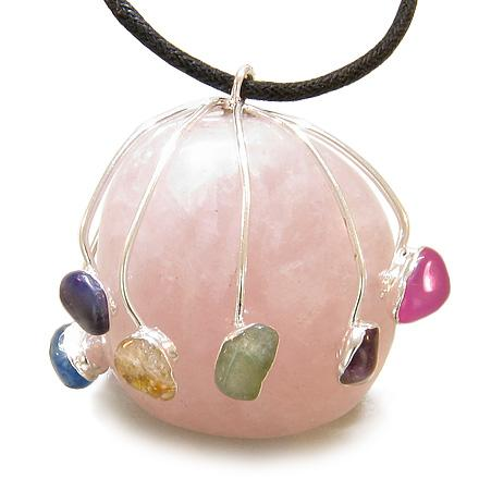 Healing Rose Quartz Gemstone Crystal Amazing Fashion Jewelry Amulets