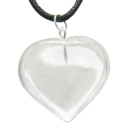 Healing Powers Crystal Quartz Gemstone Heart Shaped Gifts and Jewelry