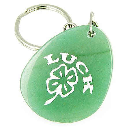 Healing Green Aventurine and Quartz Gemstone Unique Keychains