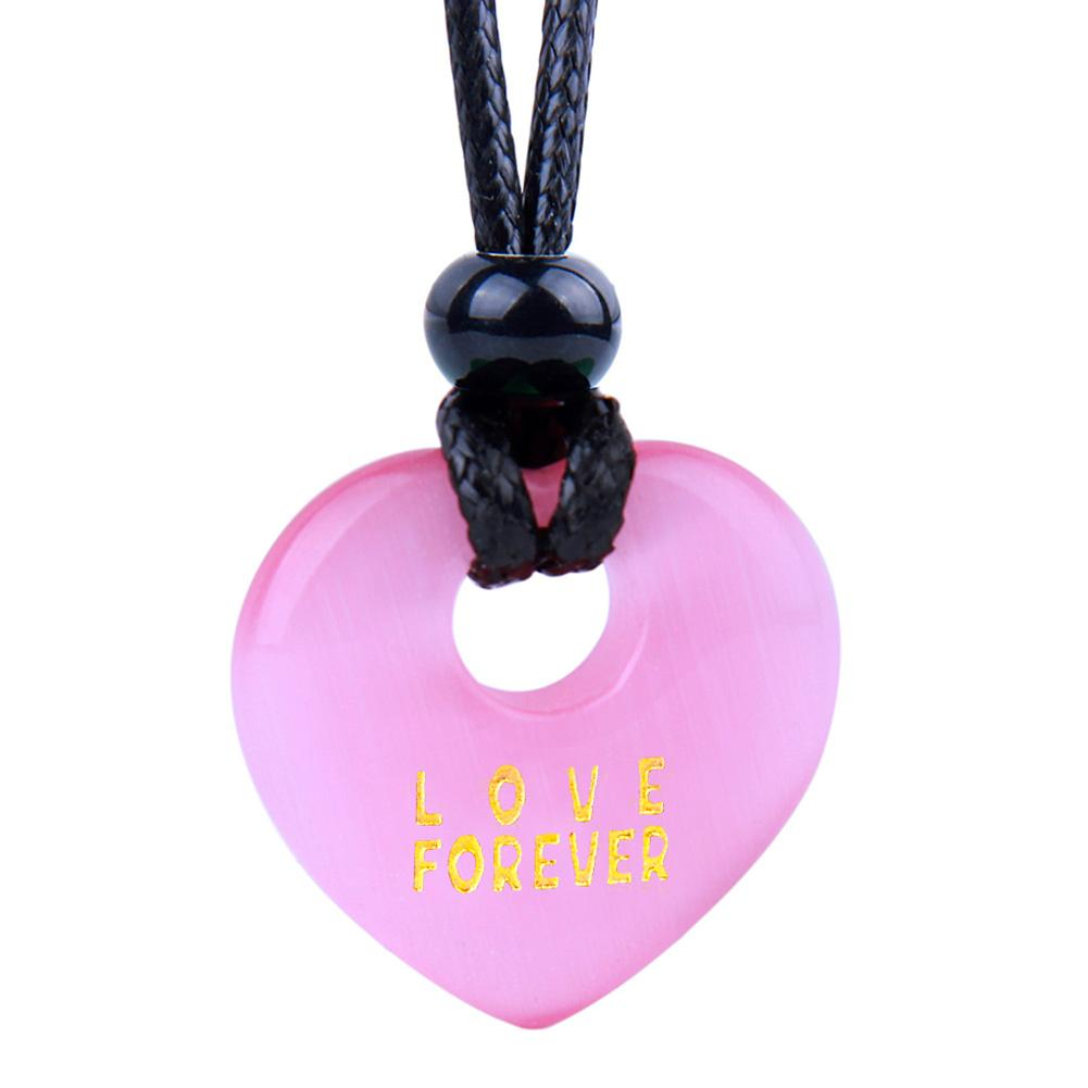 Inspirational Love Forever Powers Lucky Heart Shaped Donuts Fashion Jewelry Amulets and Talismans
