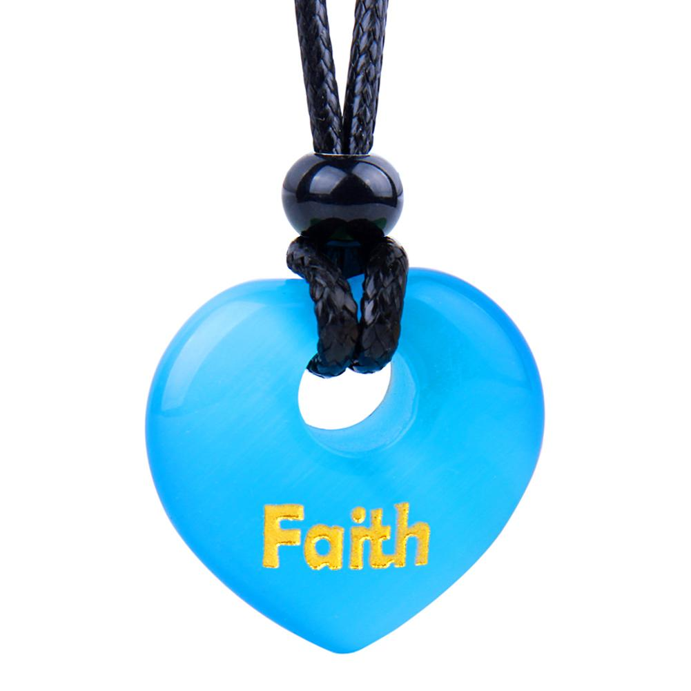 Inspirational Faith Powers Lucky Heart Shaped Donuts Fashion Jewelry Amulets and Talismans