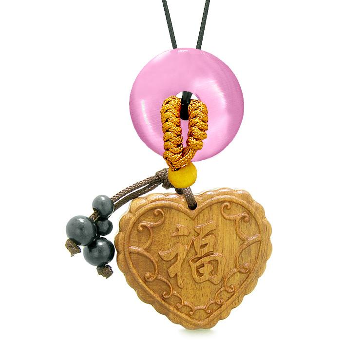 Fortune Magic Heart Wooden Car Charms