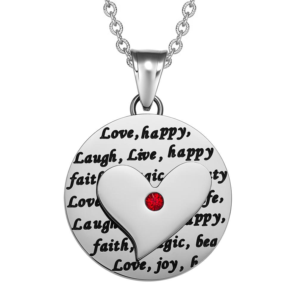 Inspirational Live Love Laugh Positive Energy Medallions Jewelry Amulets and Talismans