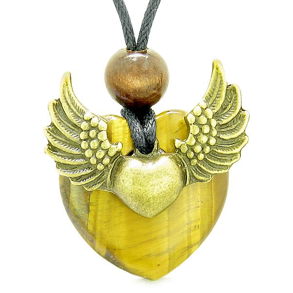 Lucky Heart Unique Guardian Angel Protection Powers Jewelry Necklaces and Gifts