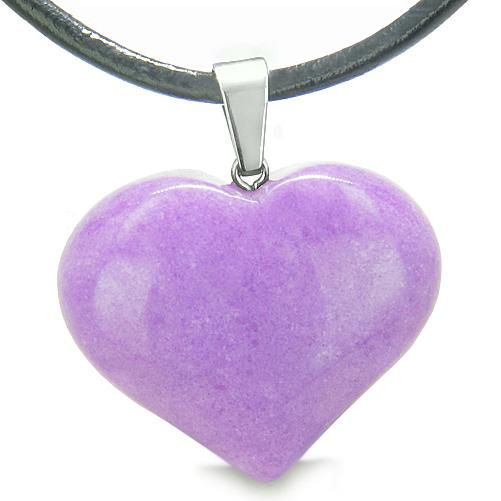 Unique Natural Colorful and Fun Quartz Lucky Crystal Hearts Necklaces Jewelry and Amulets