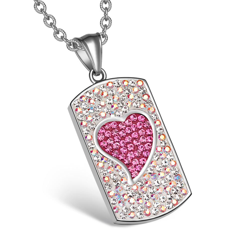 Lucky Heart Charms Unique Dog Tag Good Luck Powers Necklaces and Jewelry