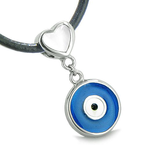Heart Shaped Evil Eye Protection Pendants and Necklaces Jewelry Amulets