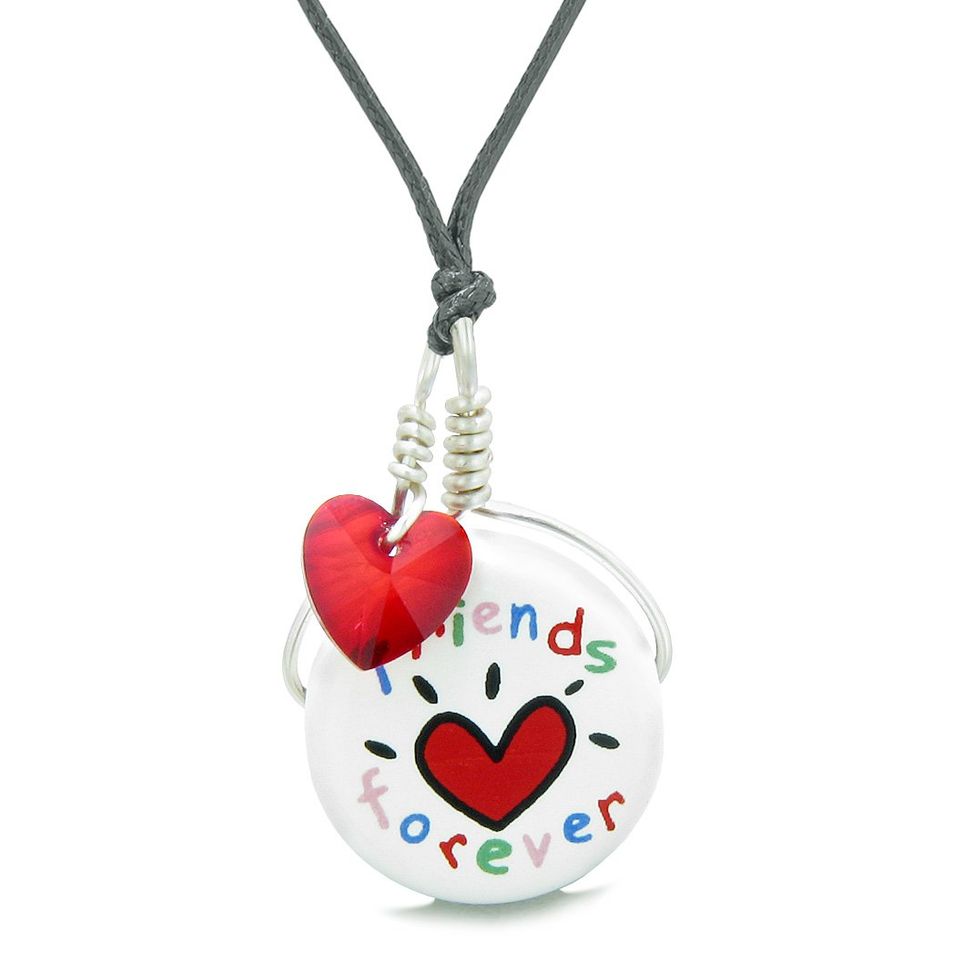 Unique Ceramic Handcrafted Lucky Heart Charms Necklaces and Jewelry