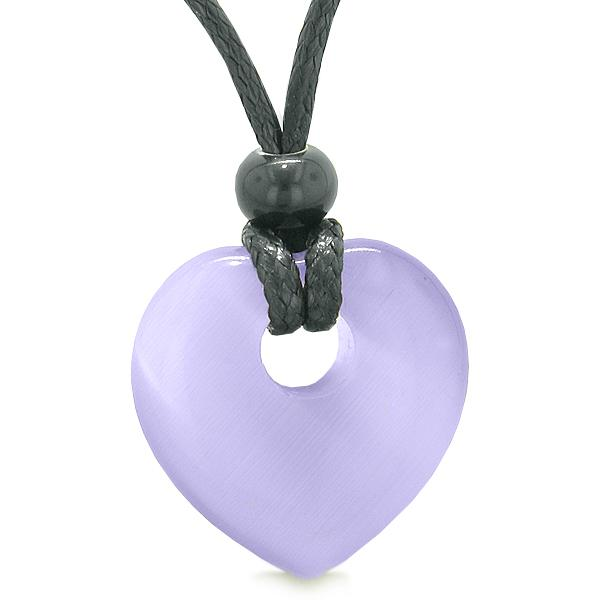 Magical Cats Eye Lucky Gemstone Hearts Necklaces Jewelry and Amulets