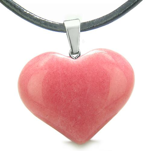Natural Colorful and Fun Quartz Lucky Gemstone Hearts Necklaces Jewelry and Amulets