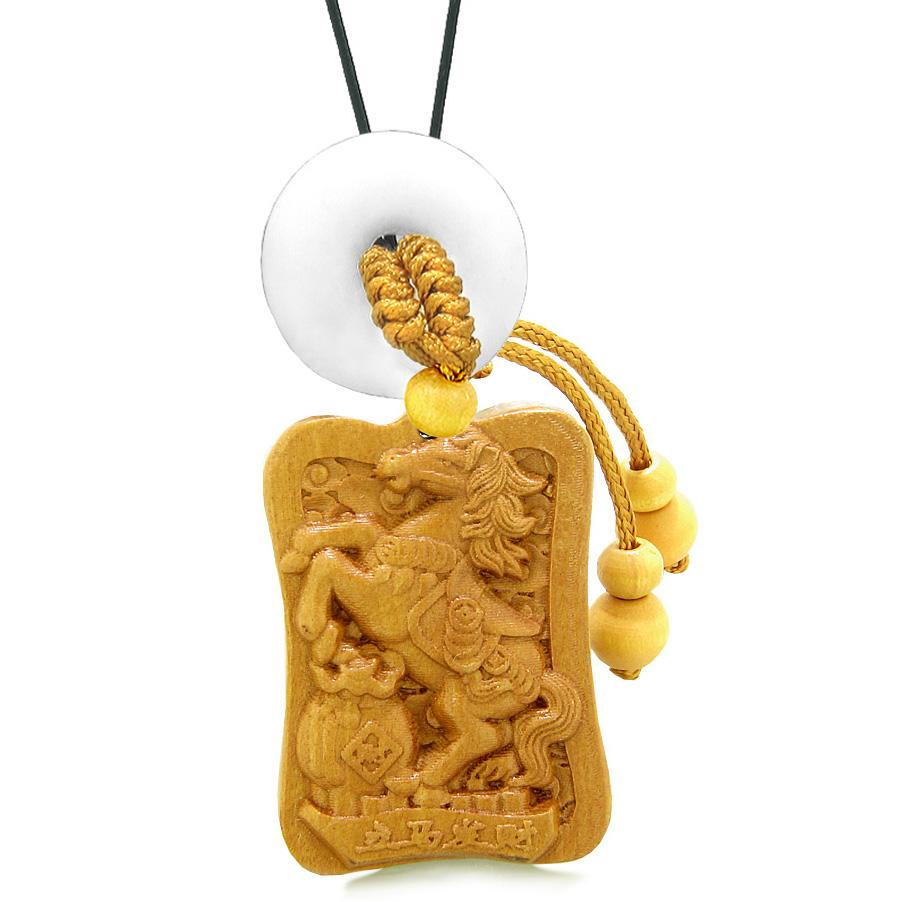 Magic Horse Fortune Wooden Car Charms