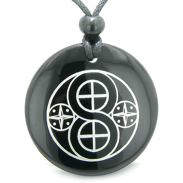 Tibetan Infinity Ancient Amulets in Onyx and Agate Gemstone