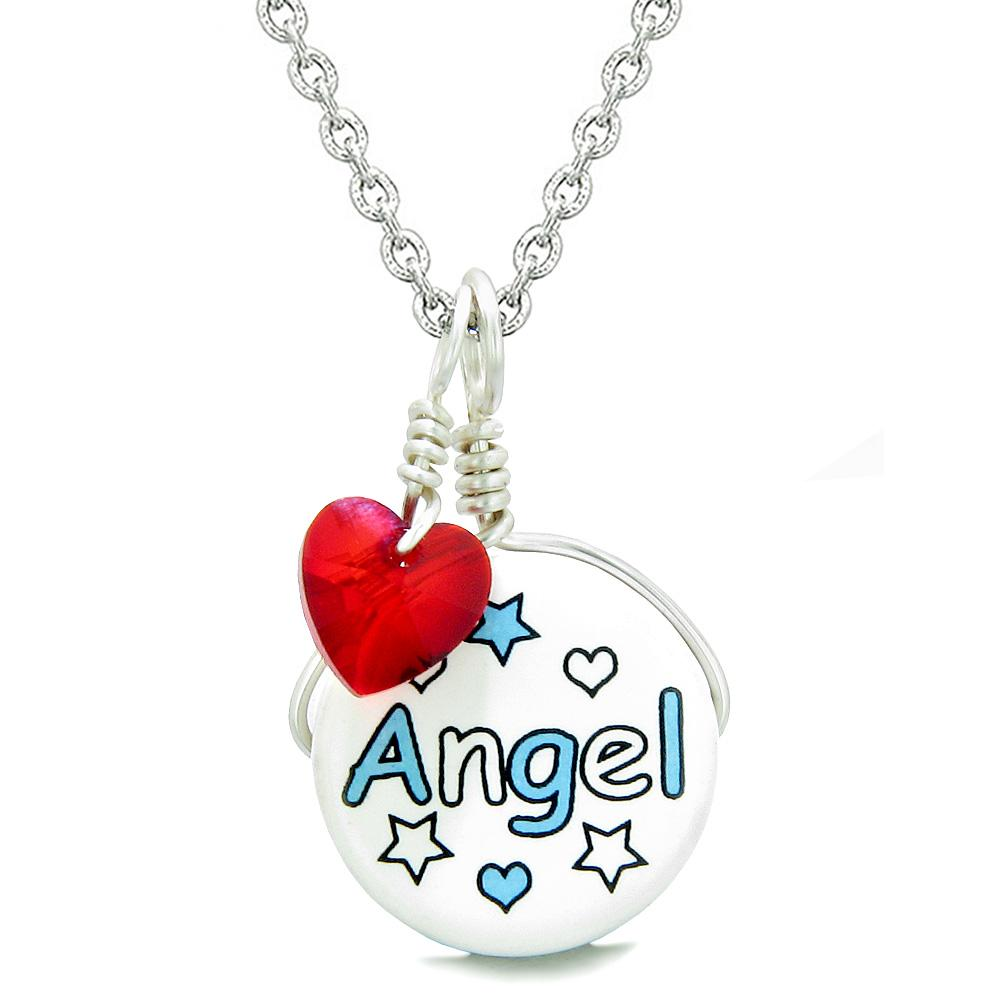 Inspirational Angel Unique Handcrafted Ceramic Fashion Jewelry Amulets and Talismans