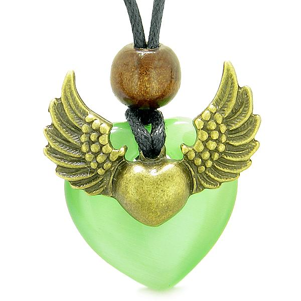 Inspirational Angel Heart Shaped Magical Protection Energy Jewelry Amulets and Talismans