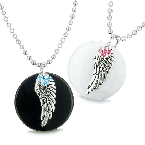 Inspirational Angel Positive Energy Love Couples and Best Friends Jewelry Amulets and Talismans