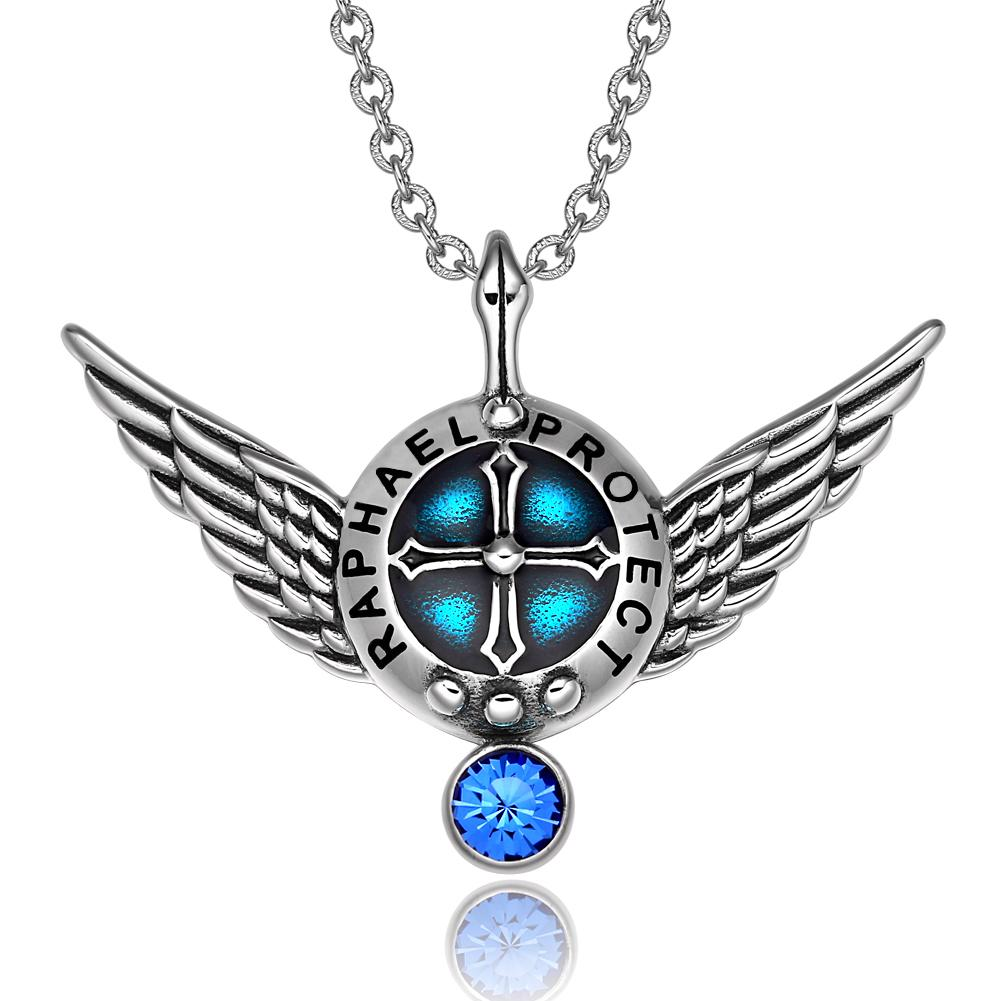Guardian Archangel Shield and Wings Inspirational Powers Jewelry Amulets and Talismans