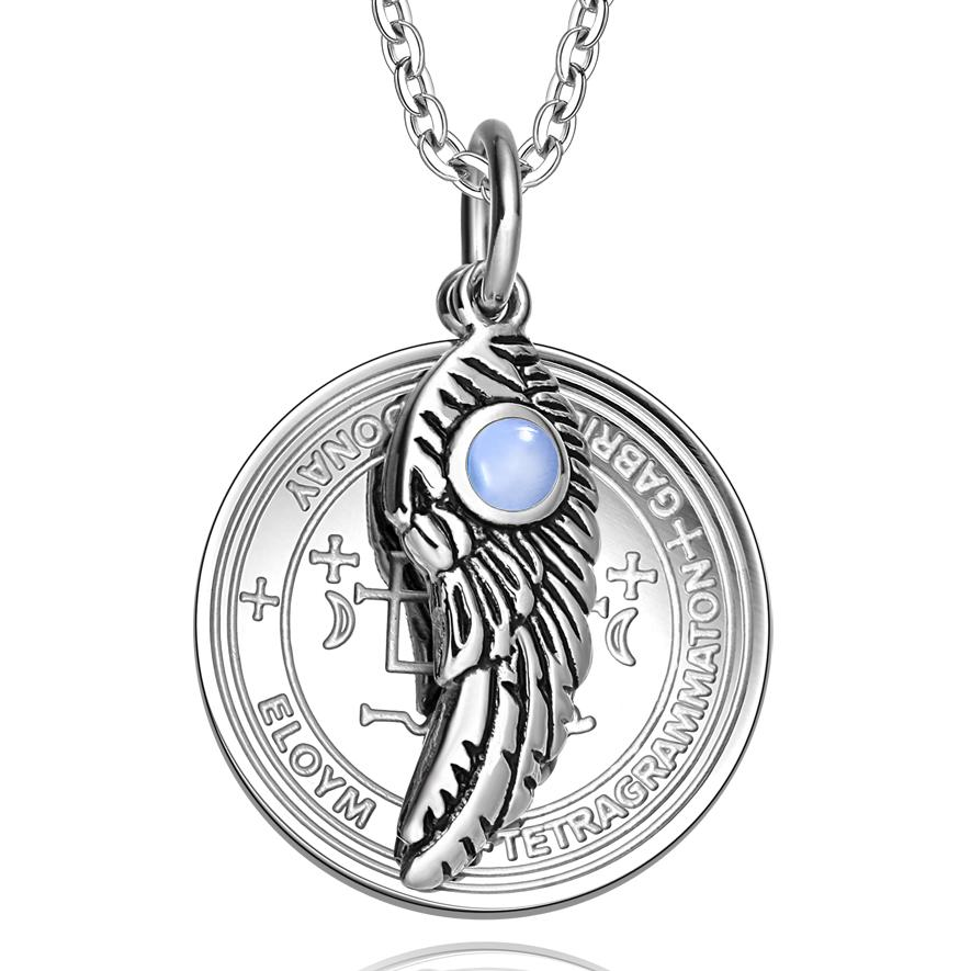 Inspirational Archangel Sigils Magic Wings Medallions Positive Energy Jewelry Amulets