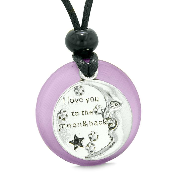 Inspirational I Love You To The Moon and Back Medallions Jewelry Positive Amulets and Talismans