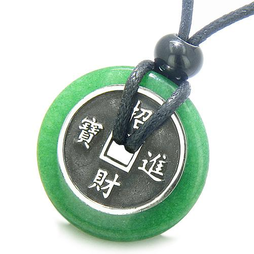 Jade Gemstone Lucky Donut Coin Amulets and Gifts