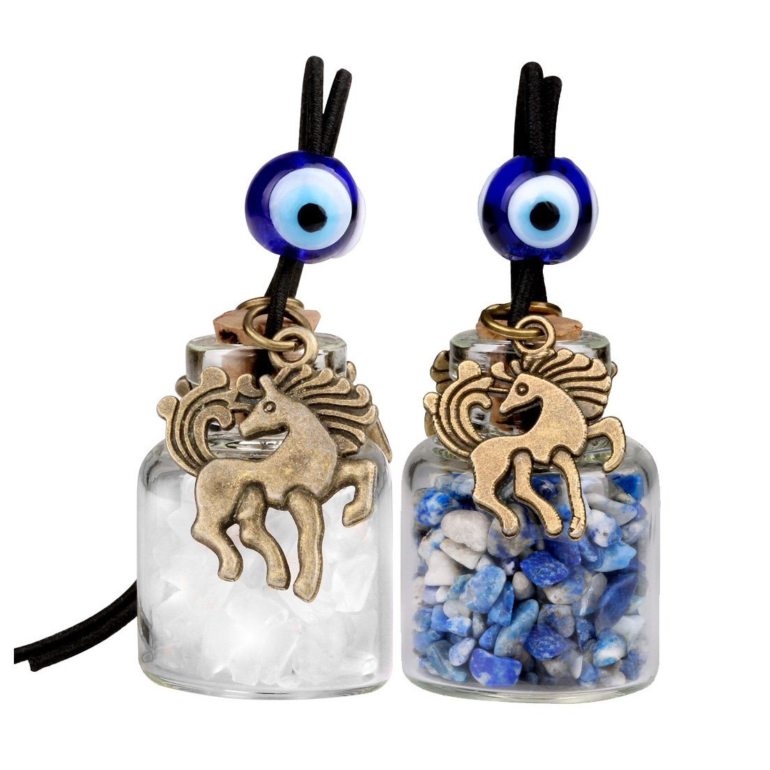Lapis Lazuli Natural Gemstone Good Luck and Protection Powers Talisman Car Charms Amulets