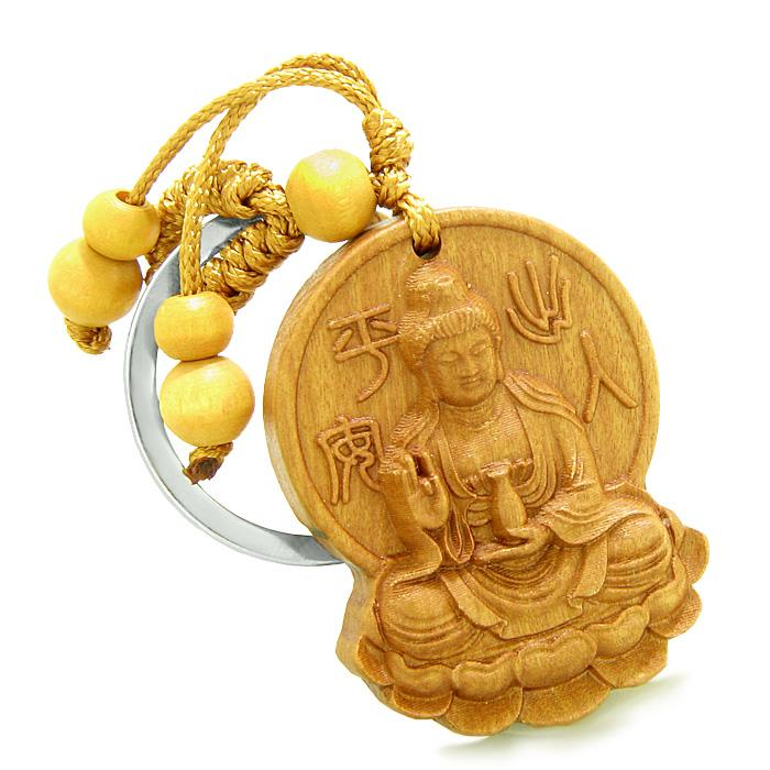 Lucky Charms Kwan Yin Quan Magic Powers Keychain Amulets and Gifts