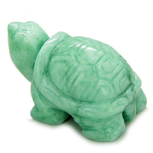 Lucky Charms Crystal Turtle Gemstone Carvings and Pocket Totem Amulets and Talismans Gifts