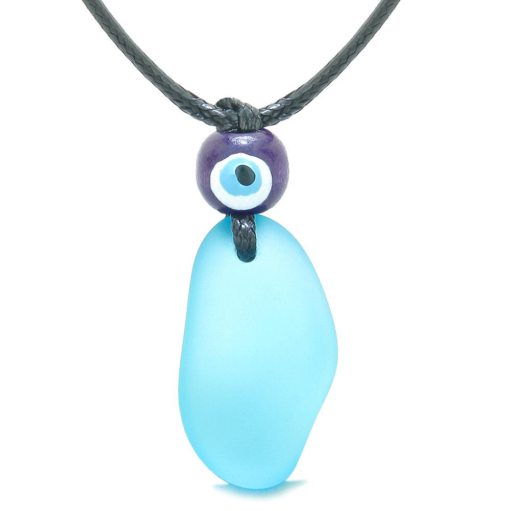Sea Glass Jewelry Lucky Charms Free Form Necklaces Good Luck Powers Amulets and Talismans