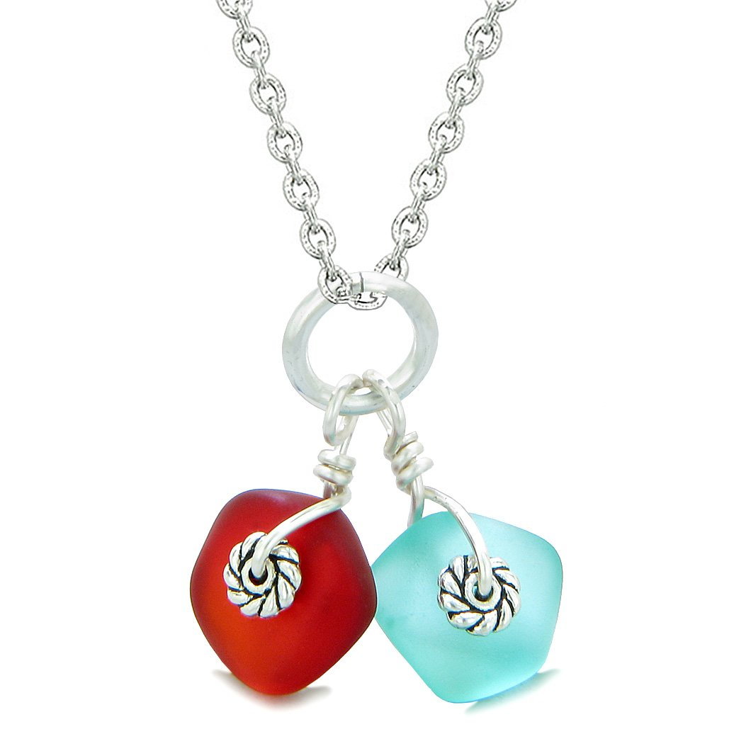 Sea Glass Jewelry Lucky Charms Twisted Twincies Collection Positive Amulets and Talismans