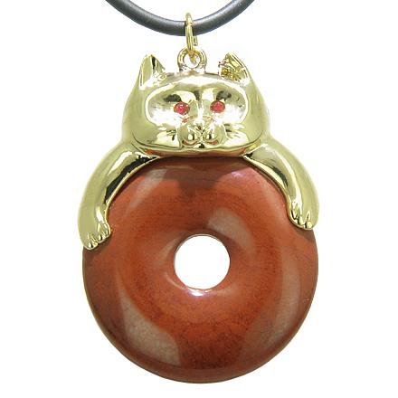 Lucky Coin Shaped Donuts Natural Red Jasper Gemstones Amulets and Talismans