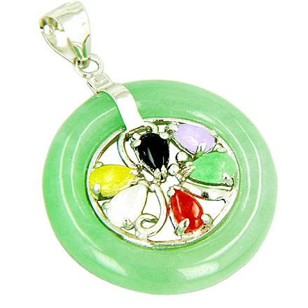 Good Luck 925 Sterling Silver Jade Fortune Powers Jewelry and Gifts