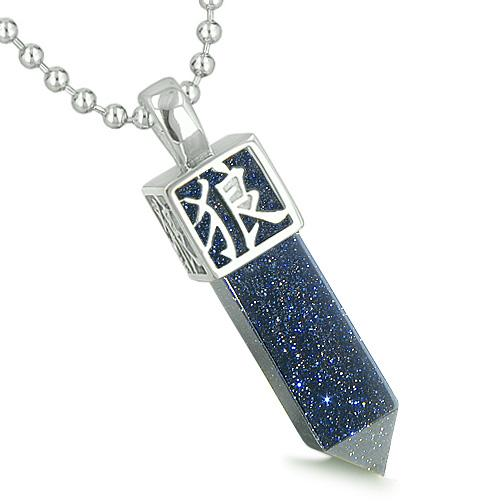 Lucky Crystal Point Wands Sparkling Goldstone Necklaces Jewelry and Amulets