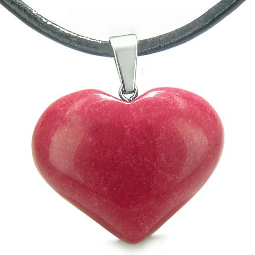 Lucky Crystal Hearts Natural Colorful and Fun Quartz Necklaces Jewelry and Amulets