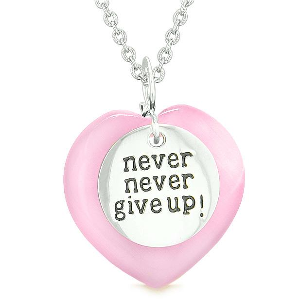 Magic Powers Lucky Hearts Charms Inspirational Pendants Necklaces Jewelry