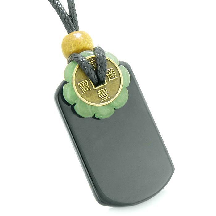 Natural Gemstones Lucky Coin Dog Tag Amulets and Talismans