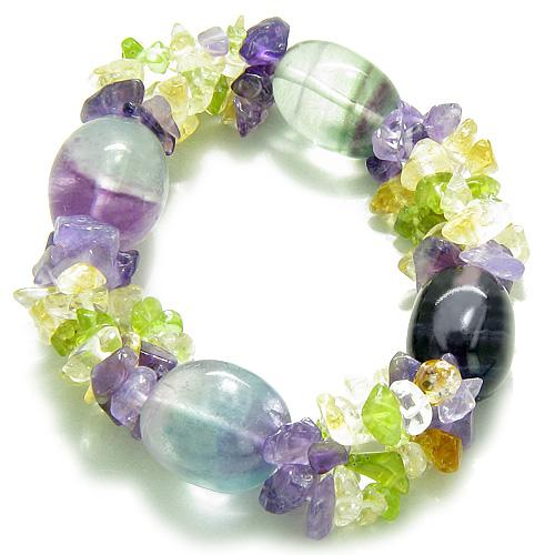 Fluorite Gemstone Crystal Good Luck Bracelets Jewelry and Gifts