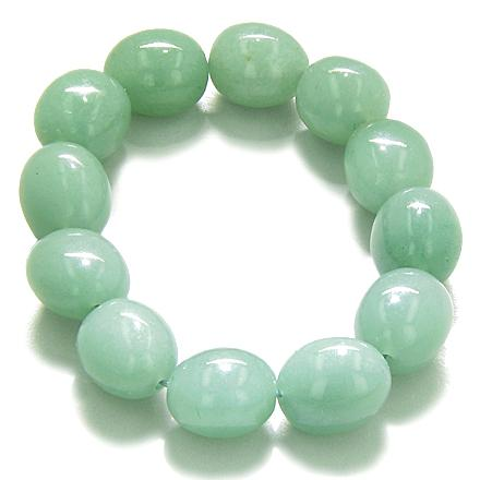 Green Aventurine and Quartz Gemstone Crystal Good Luck Bracelets Jewelry and Gifts