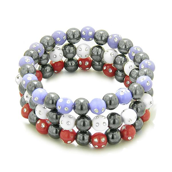 Hematite Gemstone Crystal Good Luck Bracelets Jewelry and Gifts