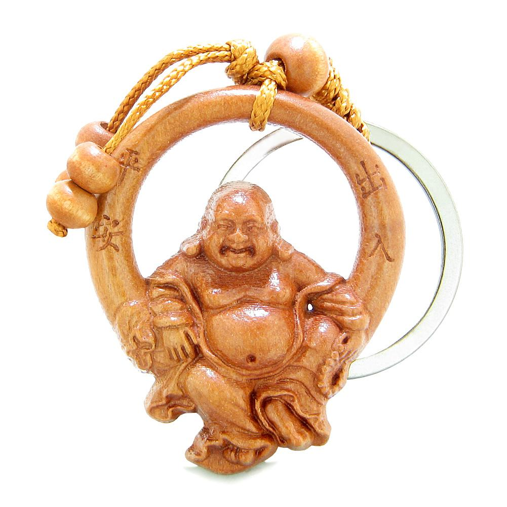 Amulets and Talismans Lucky Laughing Buddha Good Luck Powers Keychains and Gifts