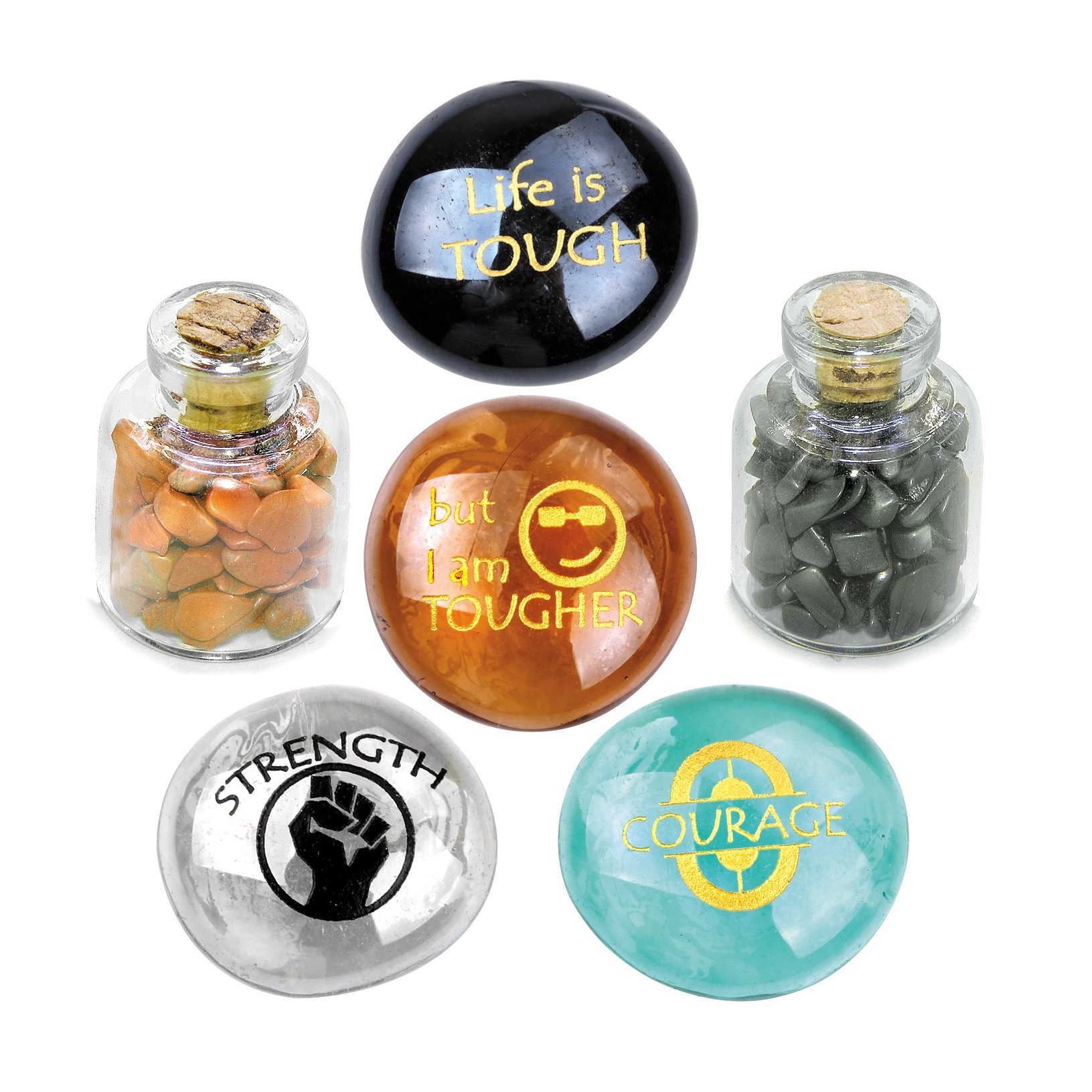 Inspirational Life is Tough But I am Tougher Jewelry Amulets and Talismans