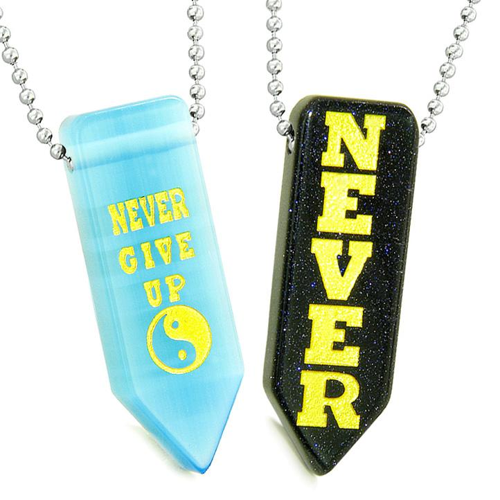 Never Give Up Inspirational Jewelry and Amulets