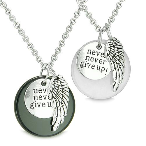 Inspirational Never Give Up Love Couples and Best Friends Good Luck Jewelry Amulets